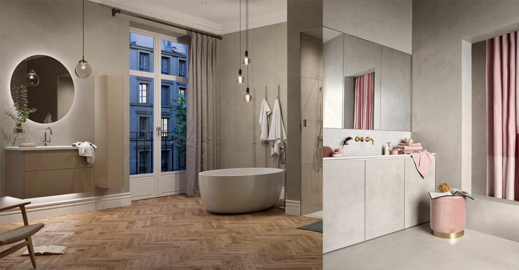 Snygga och lättstädade badrum