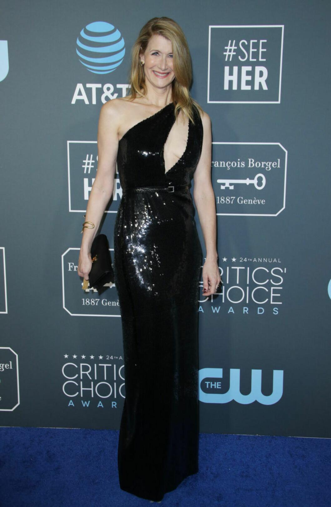 Laura Dern på röda mattan på Critics Choice Awards 2019