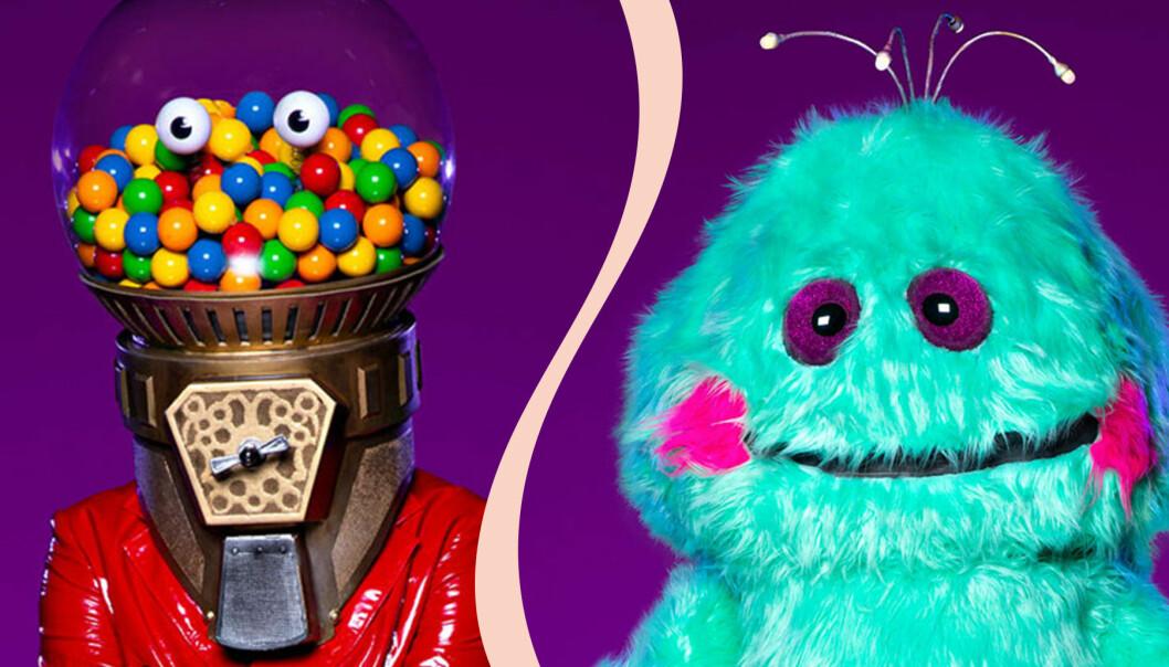 Masked Singer Sverige sänds i TV4 på fredagar. Här är godisautomaten och monstret.