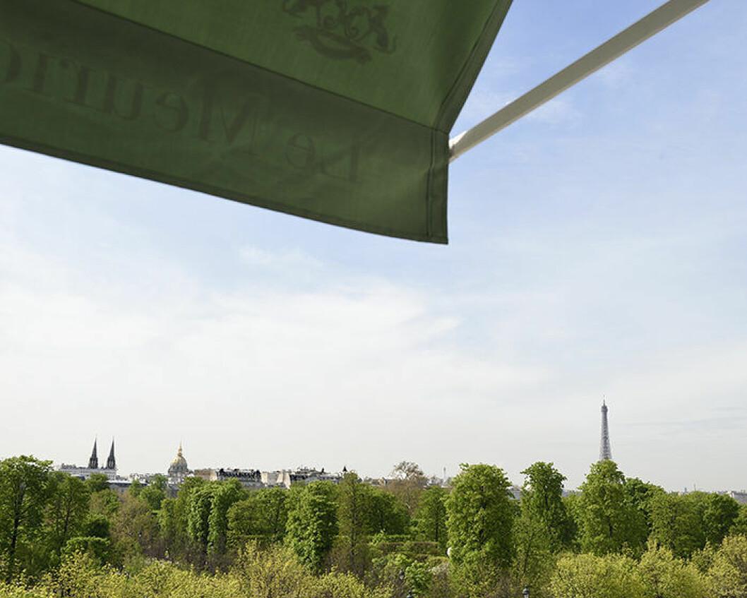 Utsikten på Paris-hotellet Le Meurice