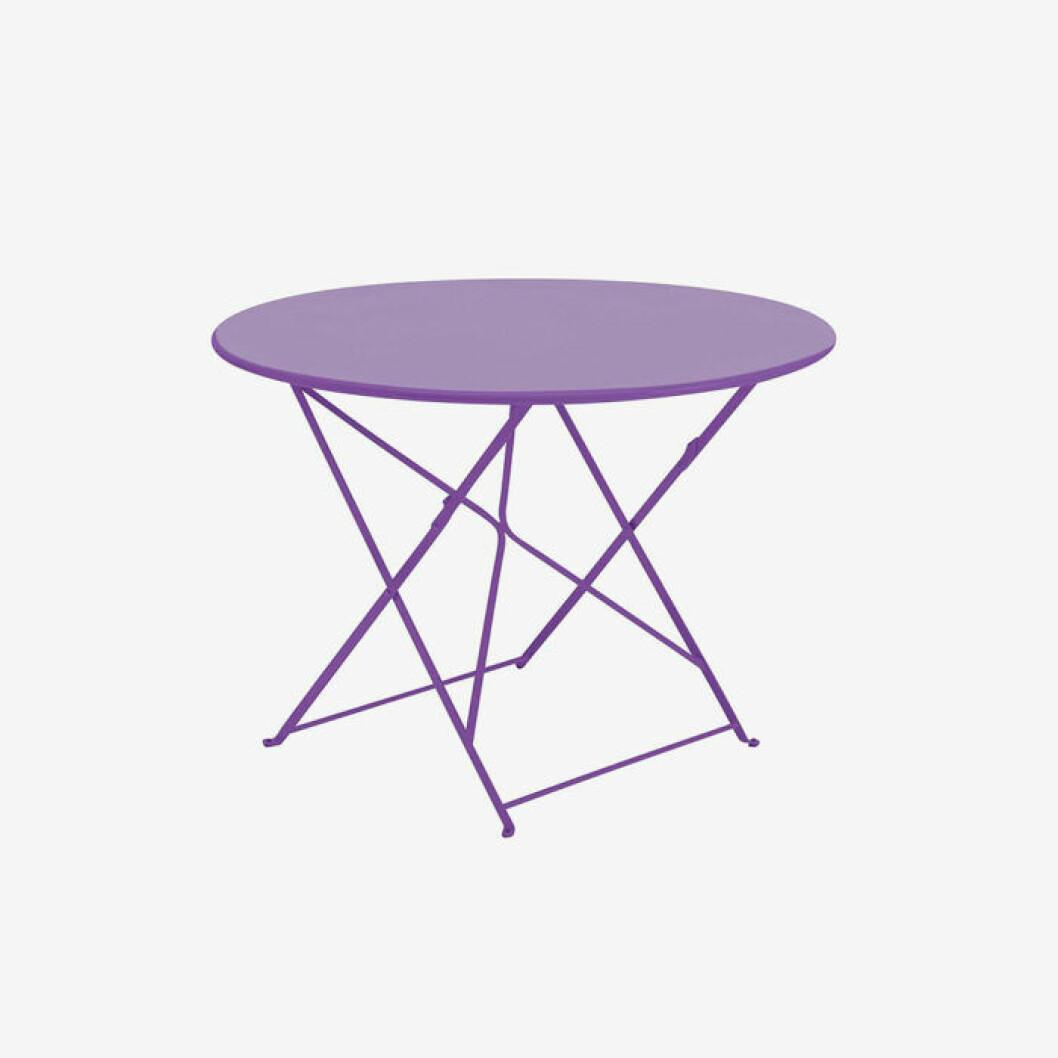 Lila bord till balkongen