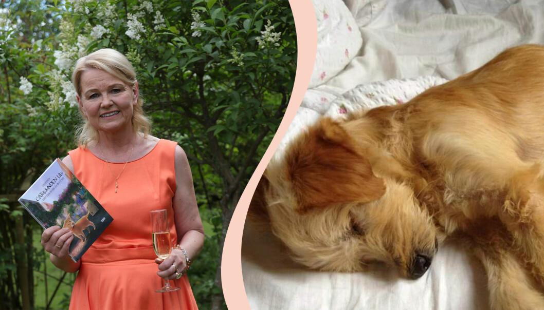 Lina Nyström har skrivit en bok om gatuhunden Lilo från Grekland.