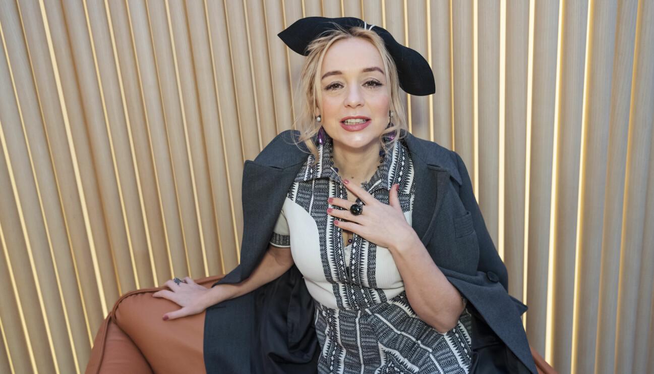 Lisa Ekdahl fotograferad när Årets Grammisnomineringar tillkännagavs 2018