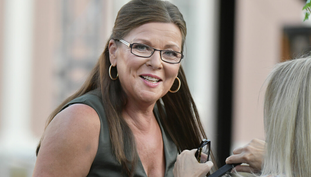 Lotta Engberg under säsongsavslutningen av Lotta på Liseberg år 2020.