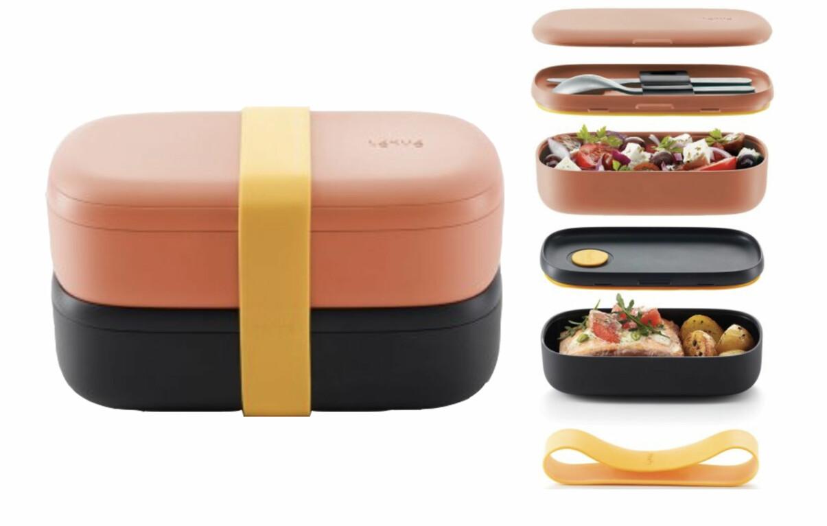 Lunchbox med flera fack, från Léuké