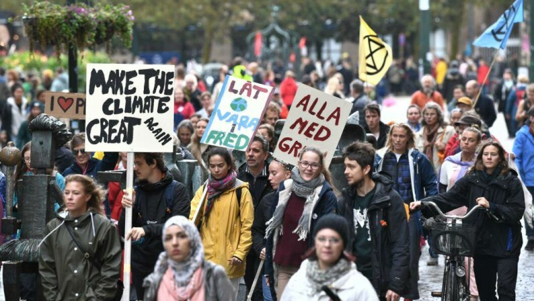 Greta Thunbergs strejk för klimatet ägde bland annat rum i Malmö