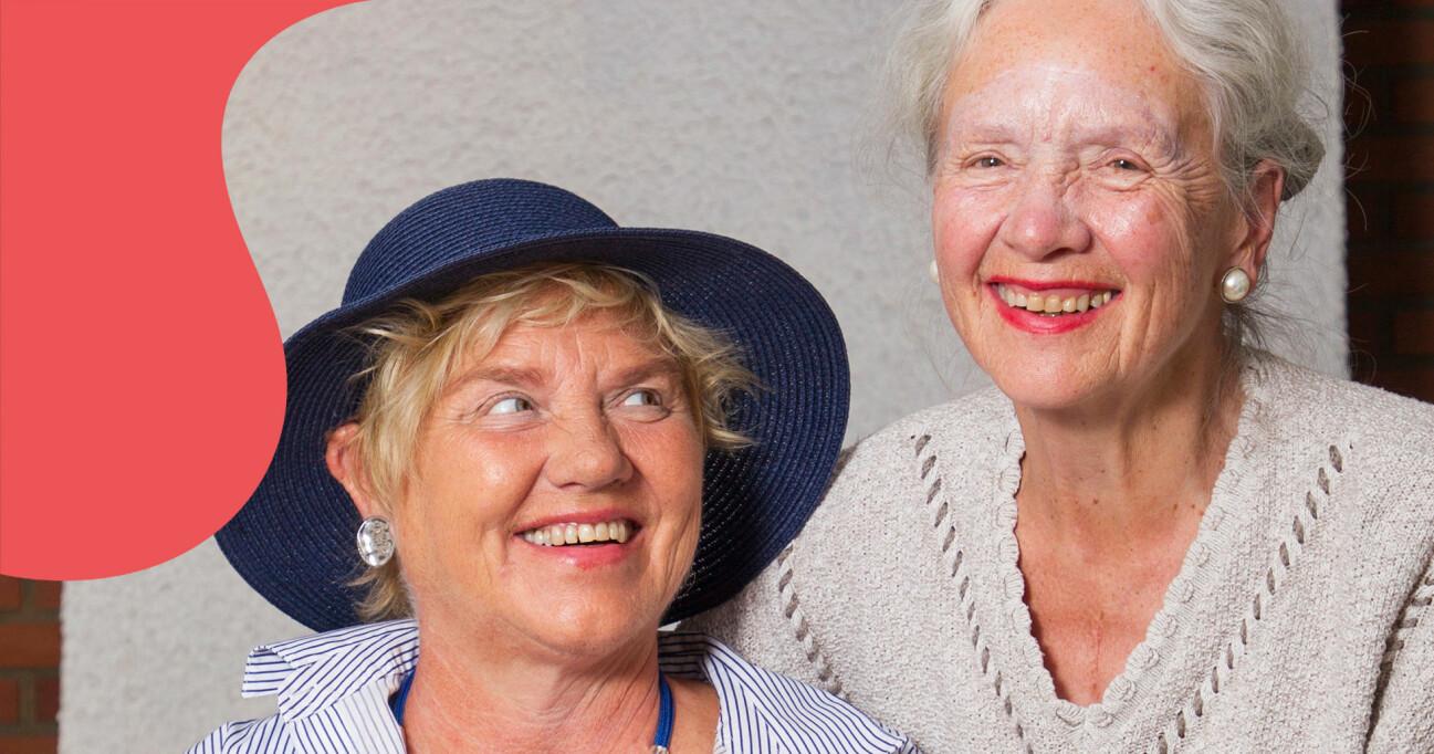 Mamma Reidun tillsammans med dottern Anniken som har alzheimers sjukdom.