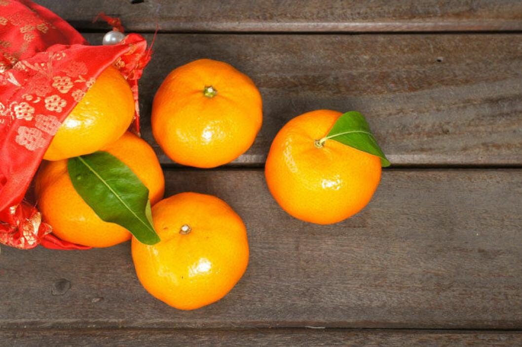 Mandarinen –god smak men full av kärnor.