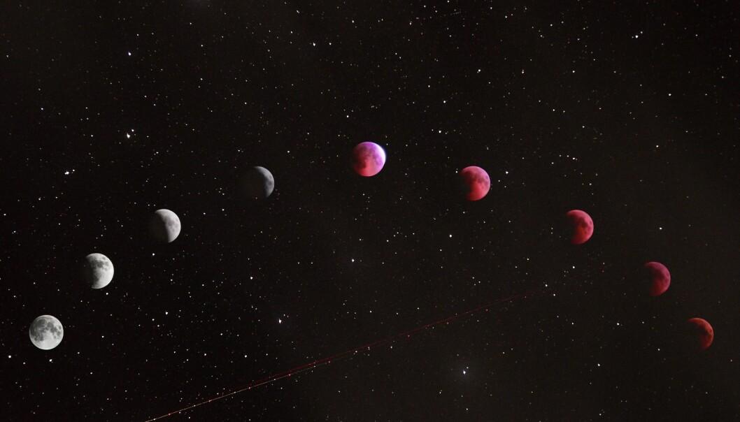 Månen olika faser.