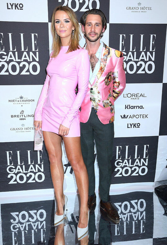 En bild på Margaux Dietz och Jacob Liebermann på ELLE-galan 2020.