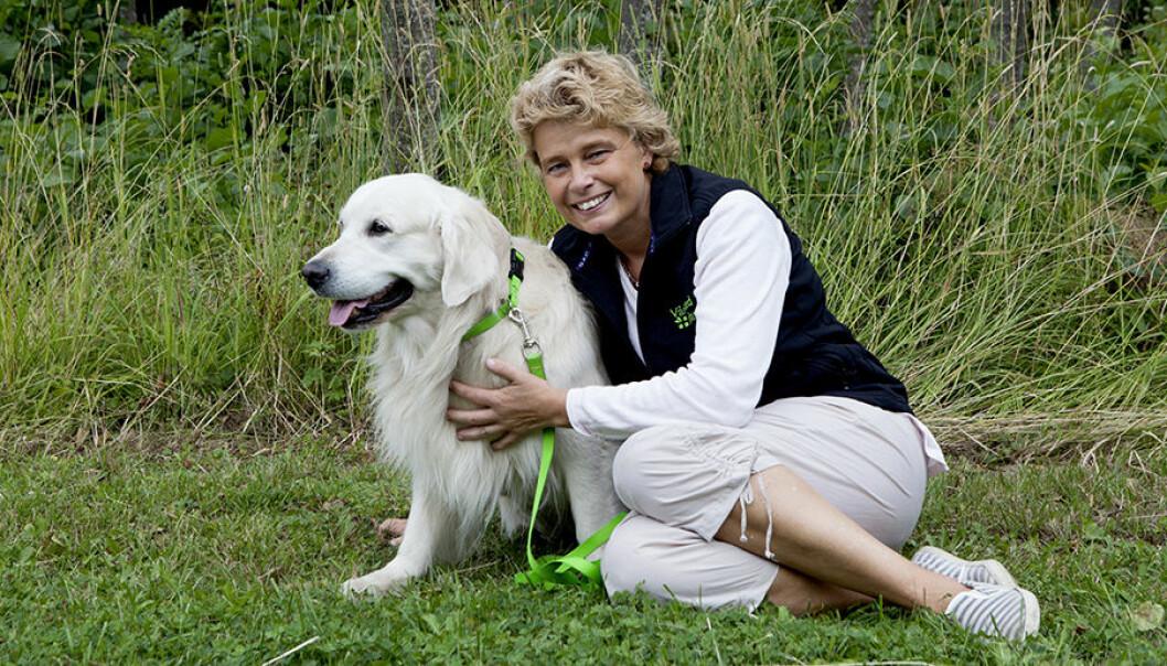 Maria Ohlsson och hunden Oliver