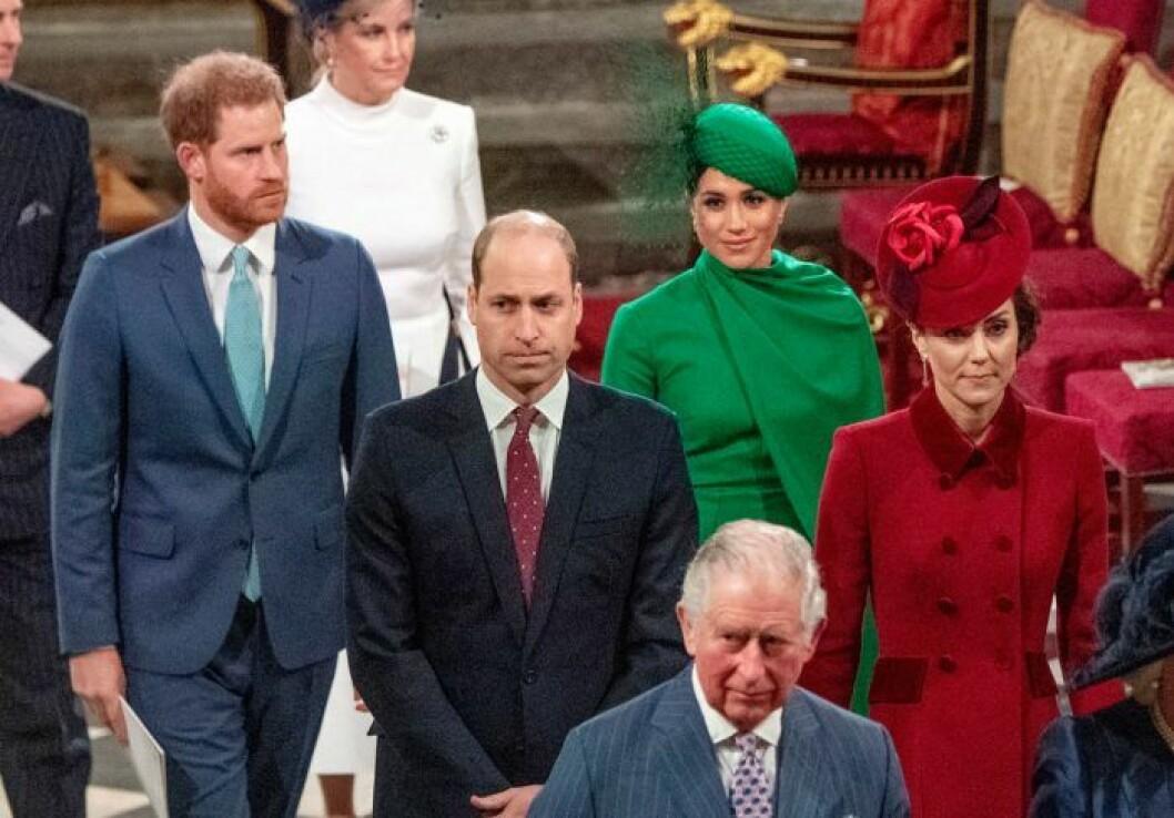 Sista uppdraget tillsammans. Prins William och Kate med Meghan och prins Harry.