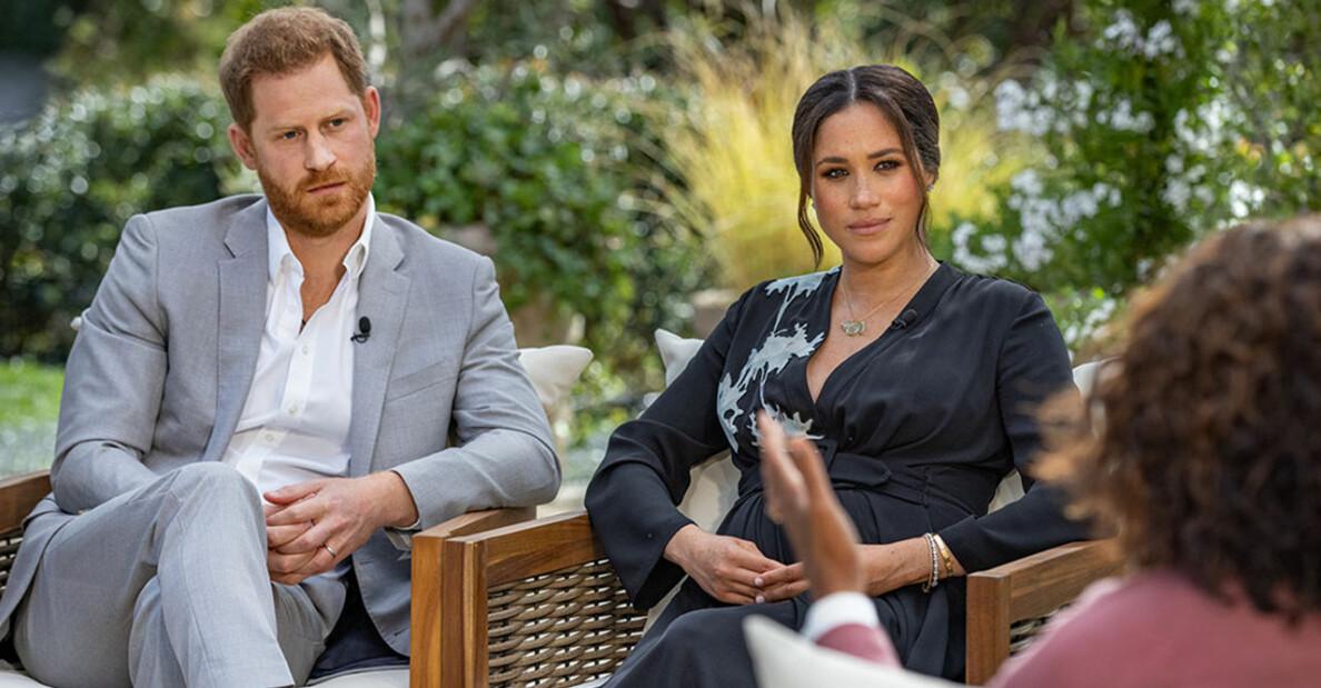 Harry och Meghan pratar med Oprah