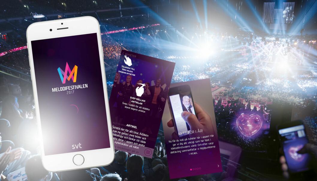 Melodifestivalens app.