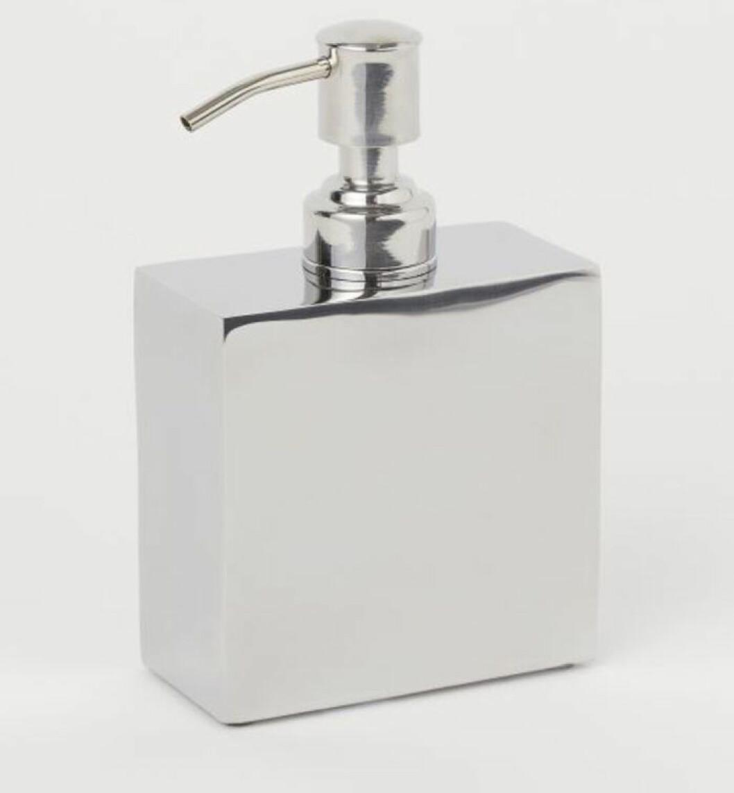 Tvålpump i silvrig metall från H&M Home