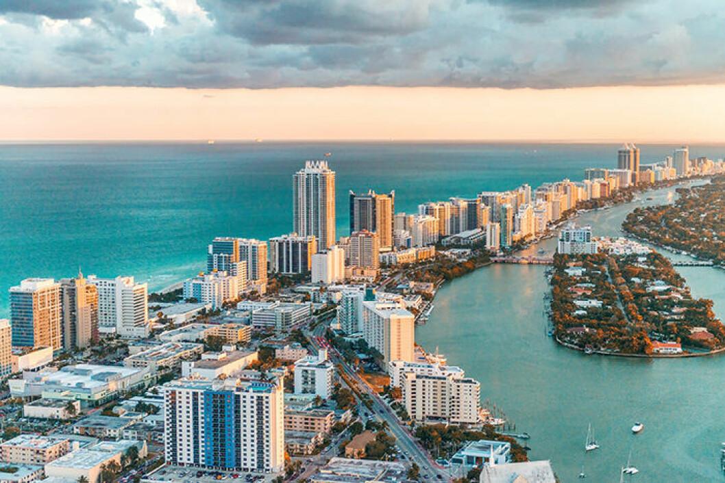 Miami i Florida är populärt bland svenskar.