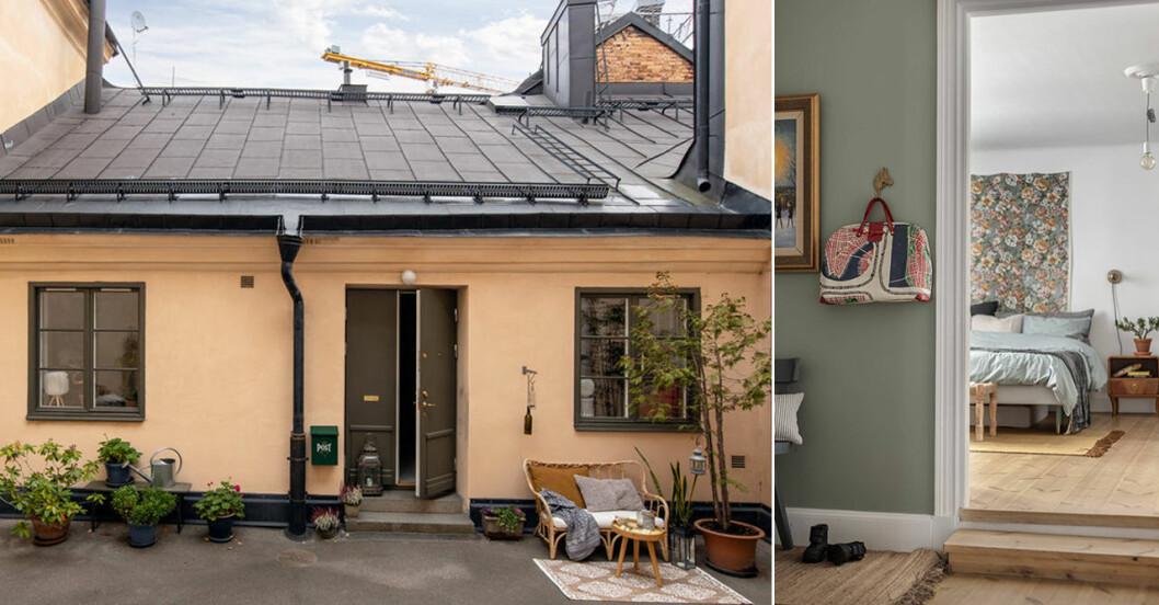 Det lilla gårdhuset på Södermalm är nu till salu – kika in
