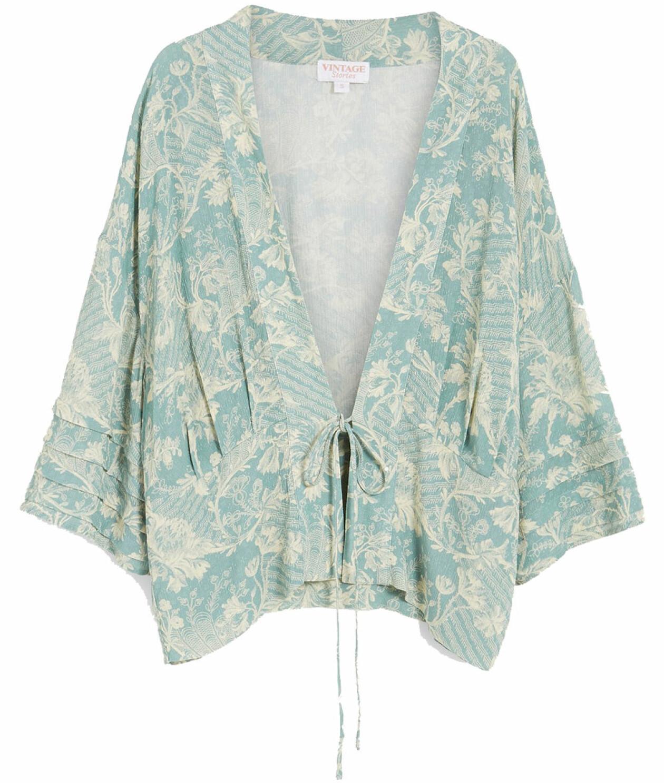 Mönstrad kimono-jacka från KappAhl