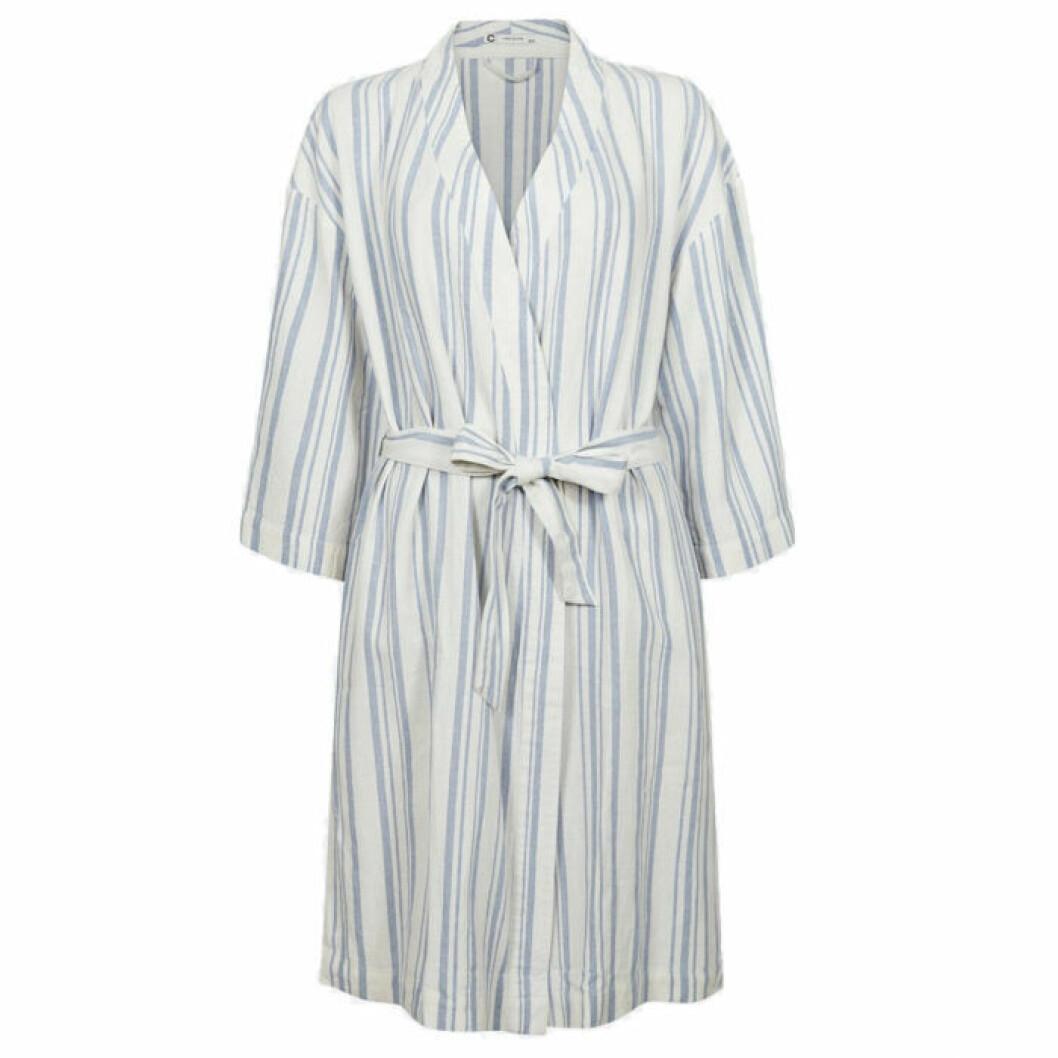 Randig kimono i linnemix från Cubus