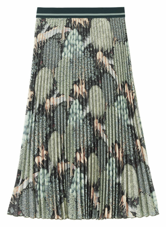 Plisserad kjol William Morris mönster H&M