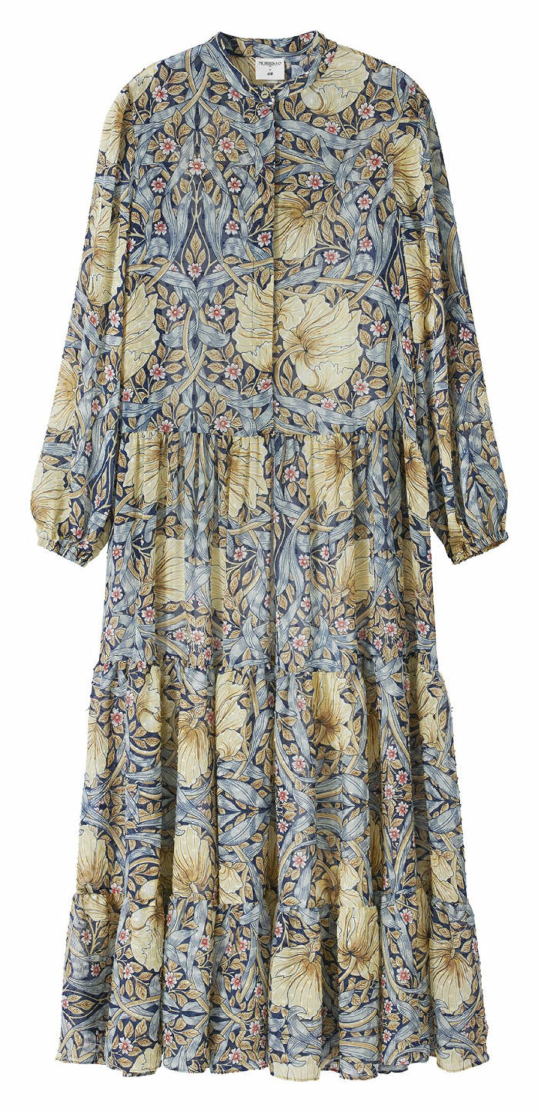 Mönstrad maxiklänning William Morris pimpernell H&M