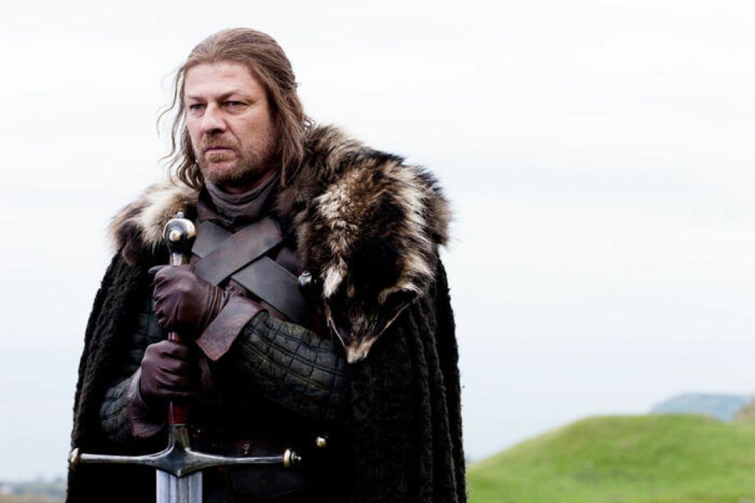 En bild på karaktären Ned Stark från tv-serien Game of Thrones.