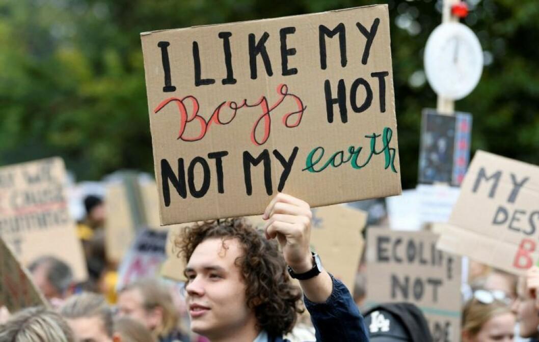 Greta Thunbergs strejk för klimatet ägde bland annat rum i Nederländerna