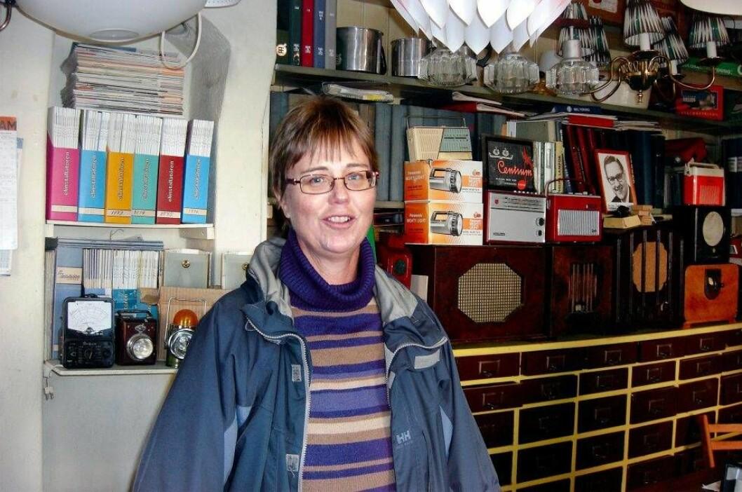Marianne Johansson i Nossebro elektriska affär.