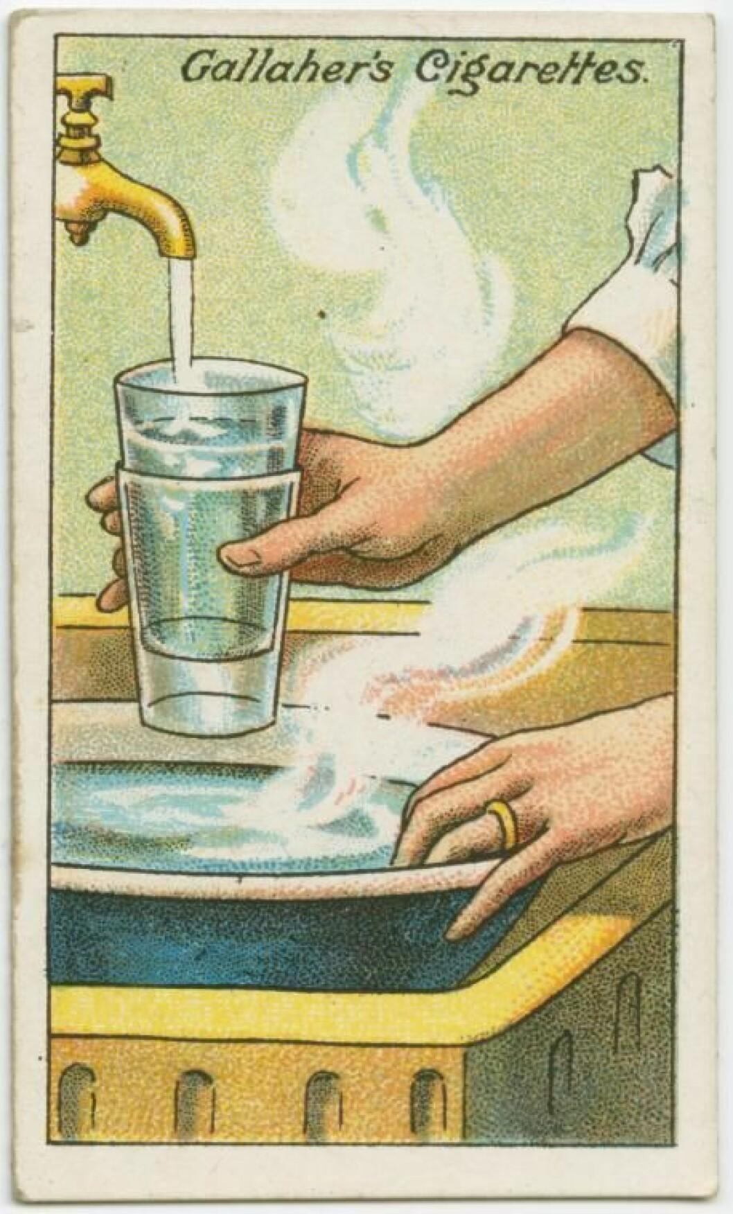 Glasen separerar tack vare temperaturskilladen.