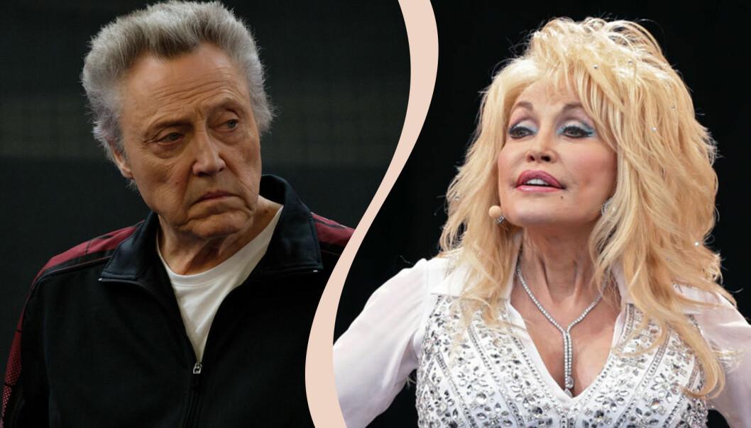 Till vänster Christopher Walken, till höger Dolly Parton.