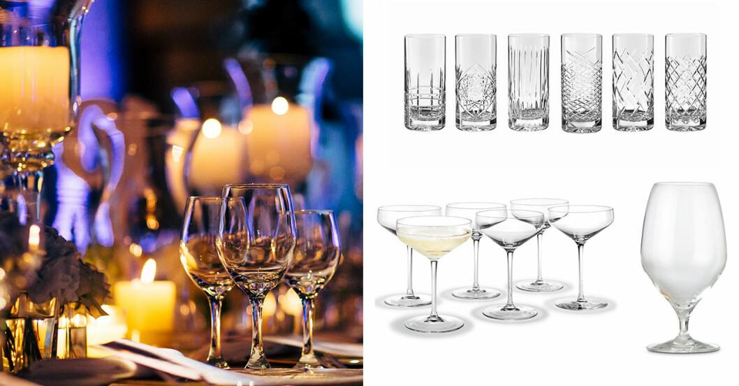 Så väljer du rätt glas till festens drycker