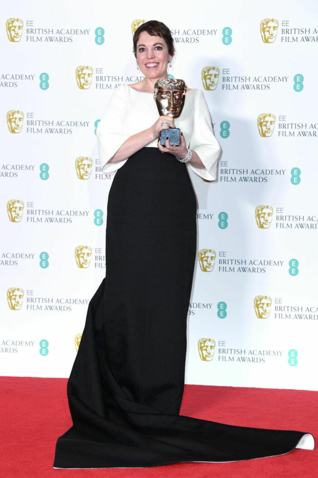 Olivia Colman på BAFTA 2019