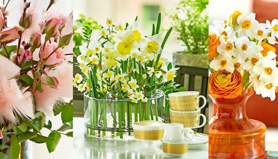 Så här arrangerar du blommorna vackert i påsk.