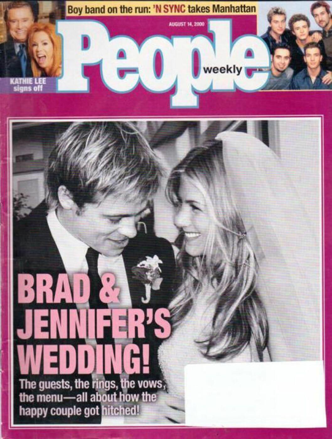 Jennifer och Brad gifter sig