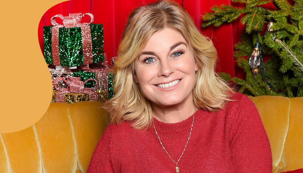Pernilla Wahlgren fotograferad i samband med SVT:s info om julkalendern 2019 – Panik i tomteverkstan.