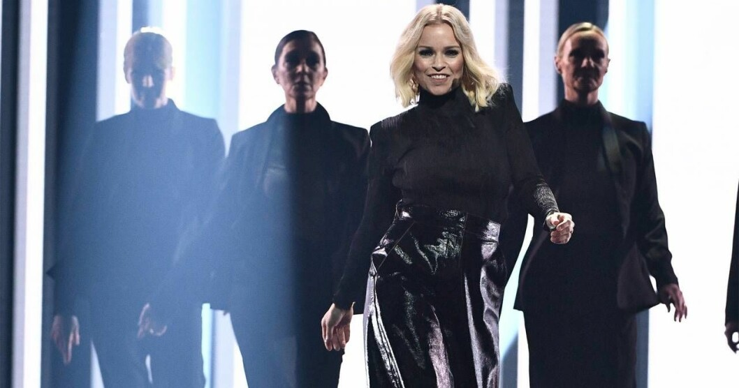Petra Marklund under mellanakten av Melodifestivalen 2018