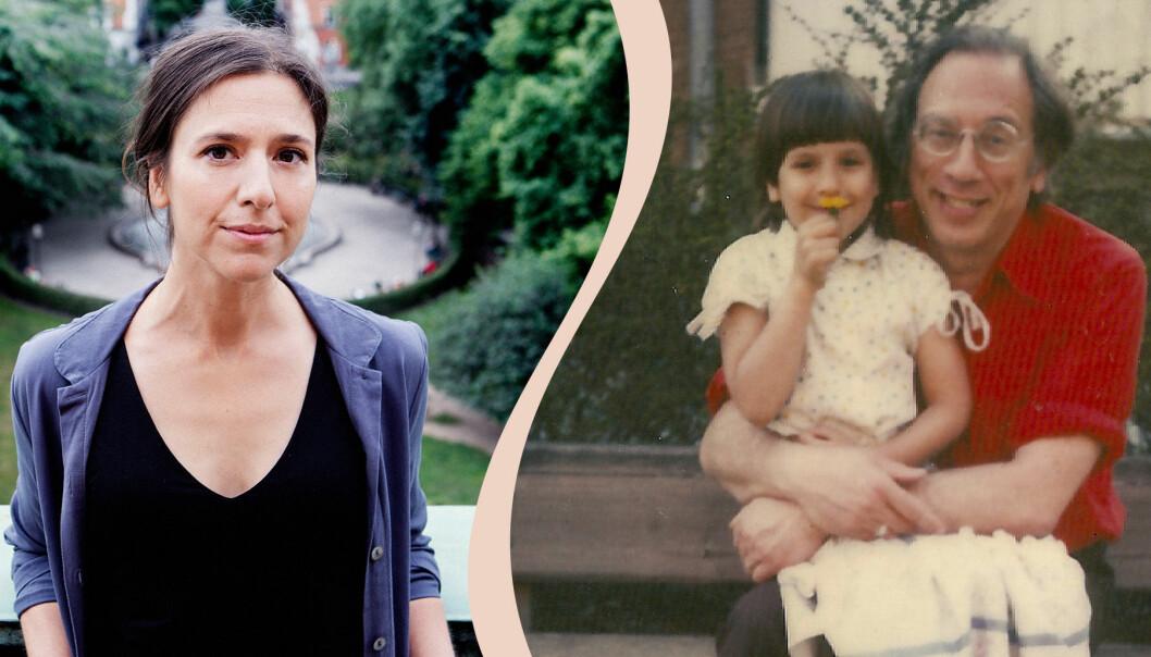 Philomène Grandin som vuxen och som barn tillsammans med sin pappa Izzy Young