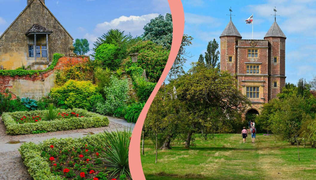 Hidcote Manor, Great Dixter och Sissinghurst är tre populära engelska trädgårdar.