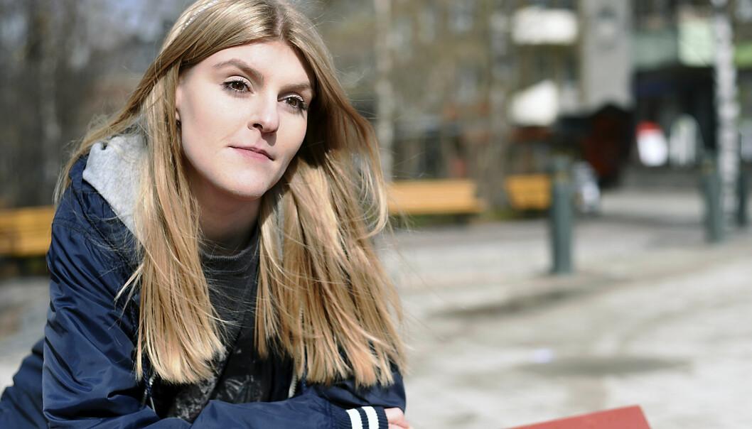 Porträtt av Jonna som lider av tvångstankar, OCD.