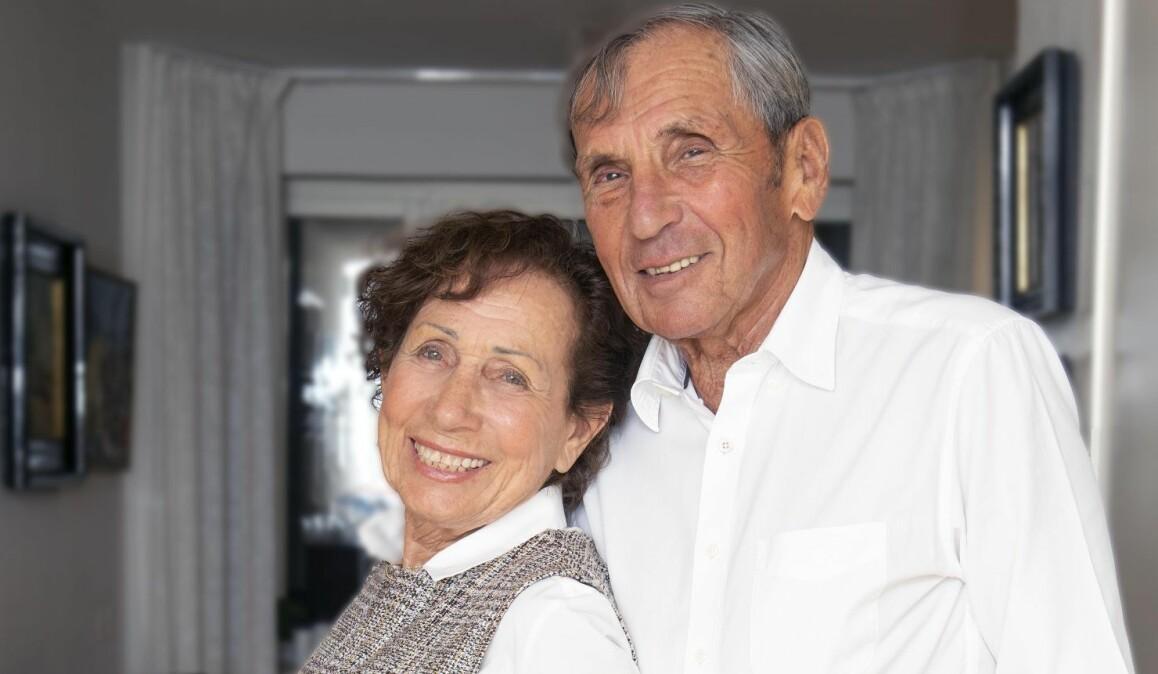 Porträtt av Jovan och Dina som överlevde förintelsen