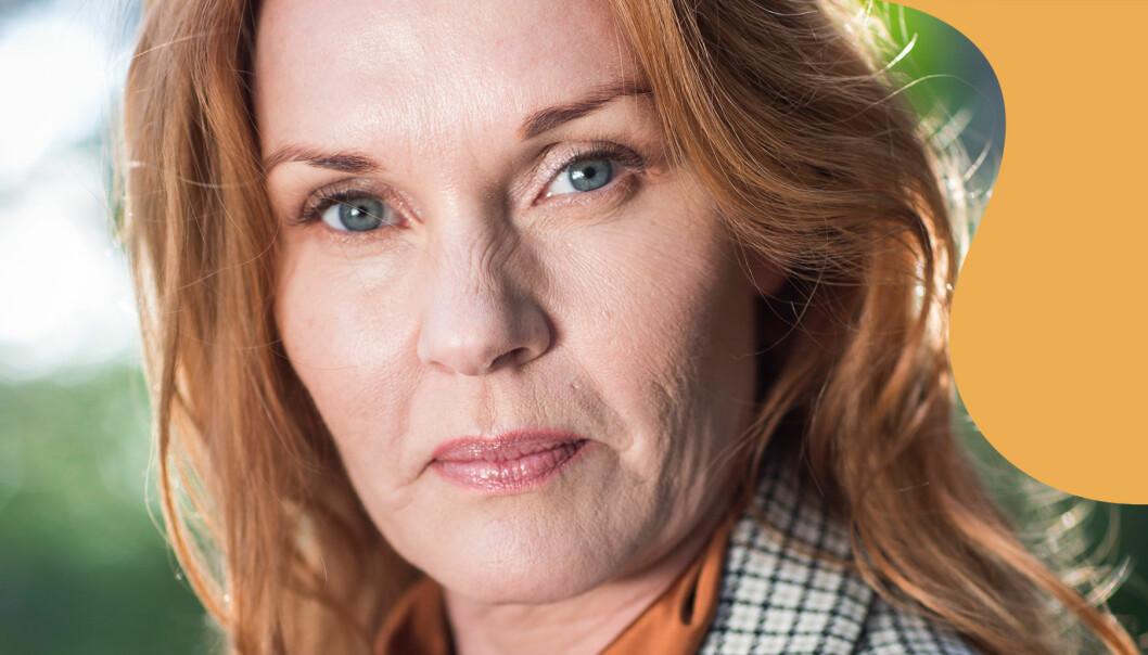 Porträtt av Pia Johansson som berättar om sin tid med en psykopat.