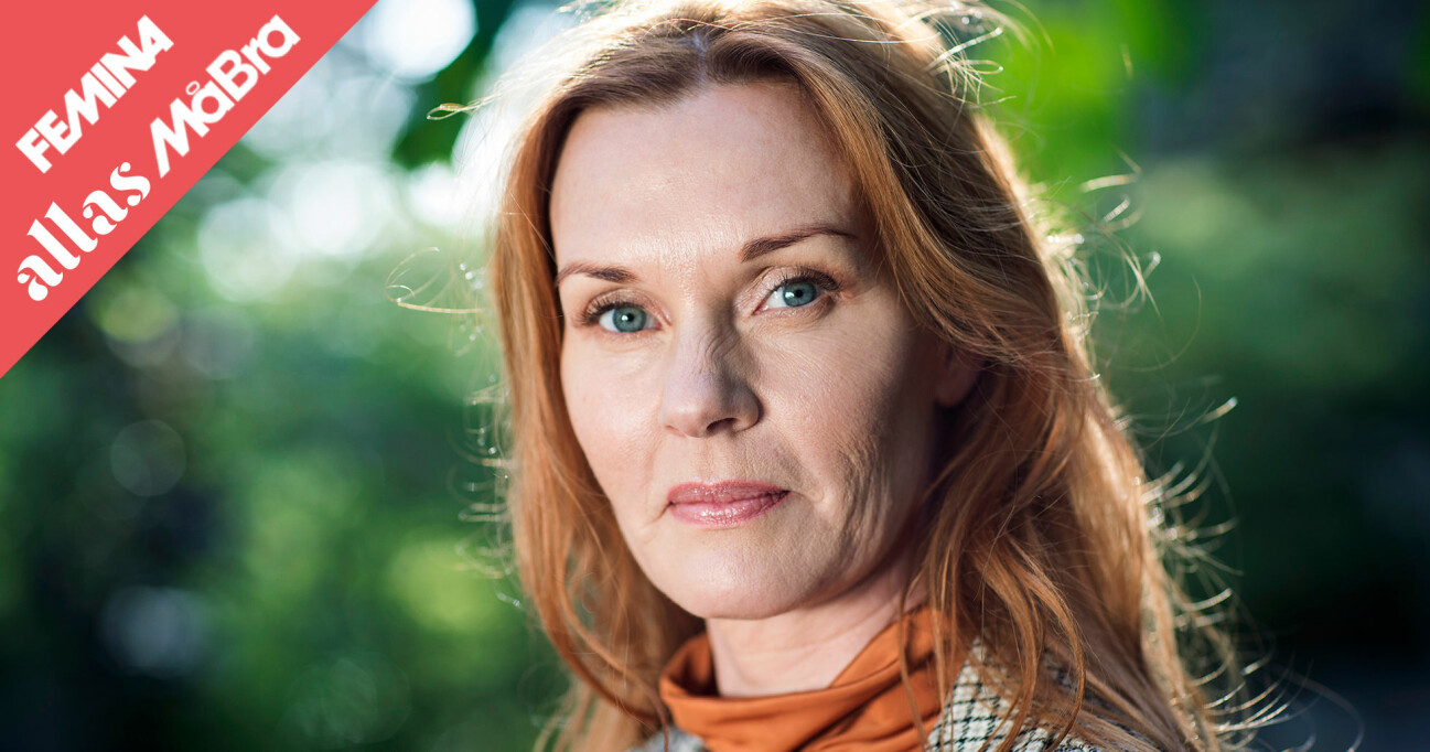 Porträtt av Pia Johansson som misshandlades under många år.