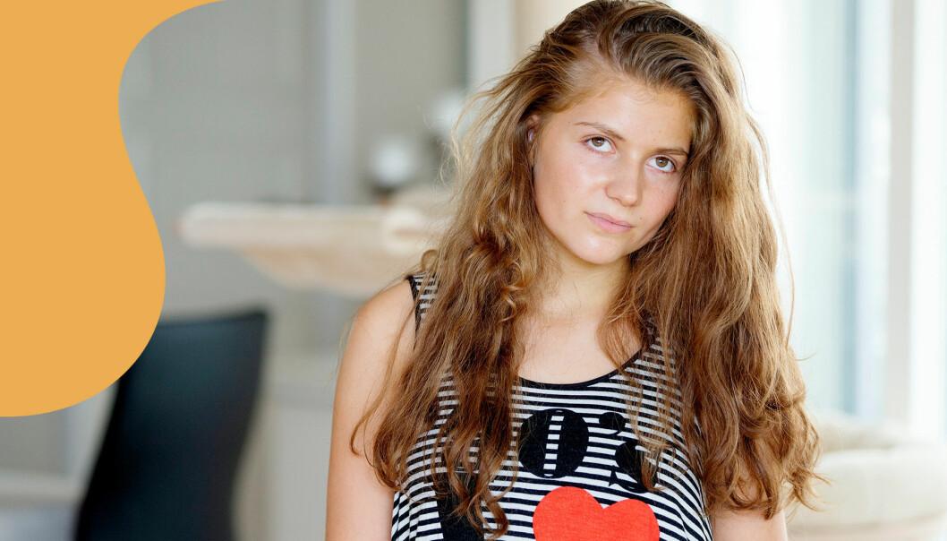 Porträtt av Sascha, 17 år, som har haft hjärntumör i 12 år.