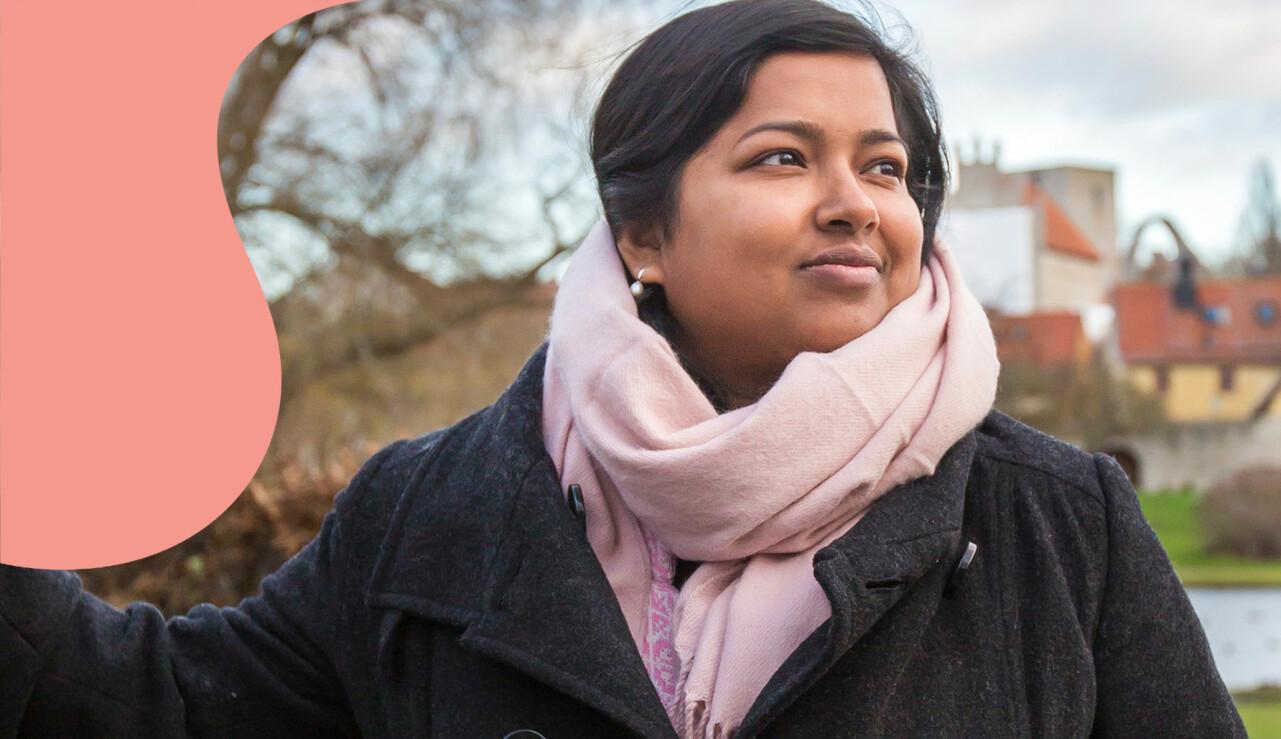 Porträtt av Shamima som berättar om sin flykt fråm hemlandet.