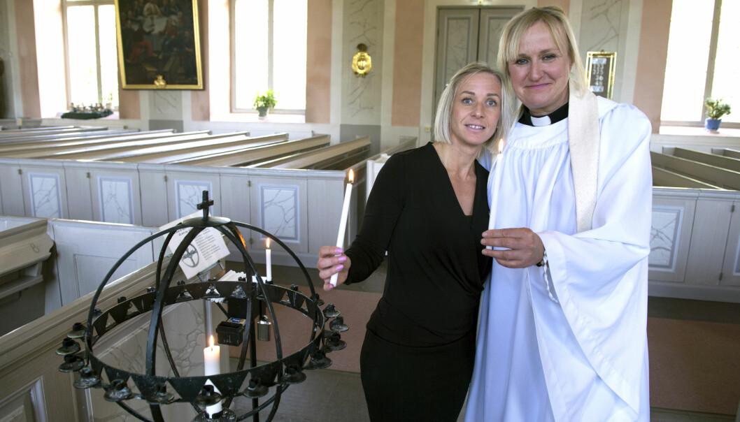 Prästen Jessica Fritzsons liv räddades av Jenny Lyckbacke som snabbt körde henne till vårdcentralen i en likbil.
