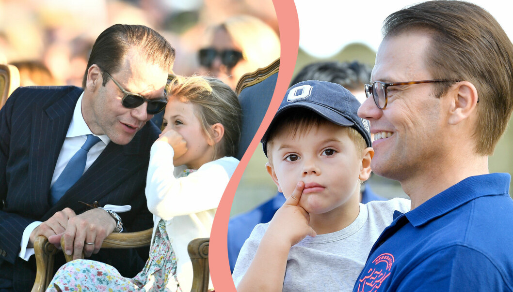 Prins Daniel med barnen.