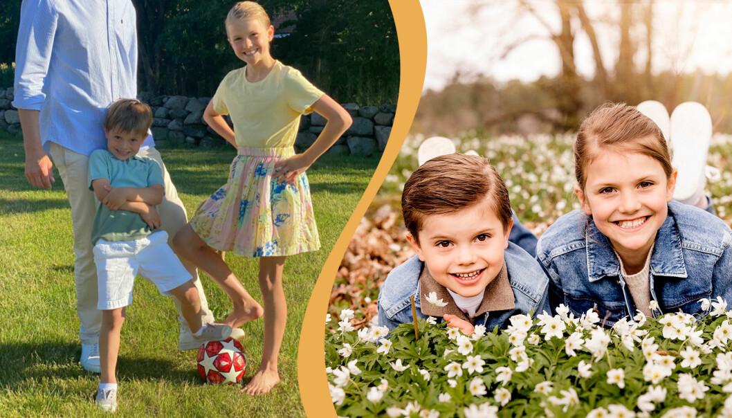Prinsessan Estelle och prins Oscar är aktiva barn som gillar sport.