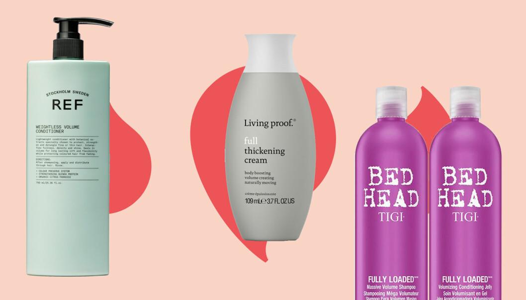 Tre produkter som hjälper till att ge fylligare hår