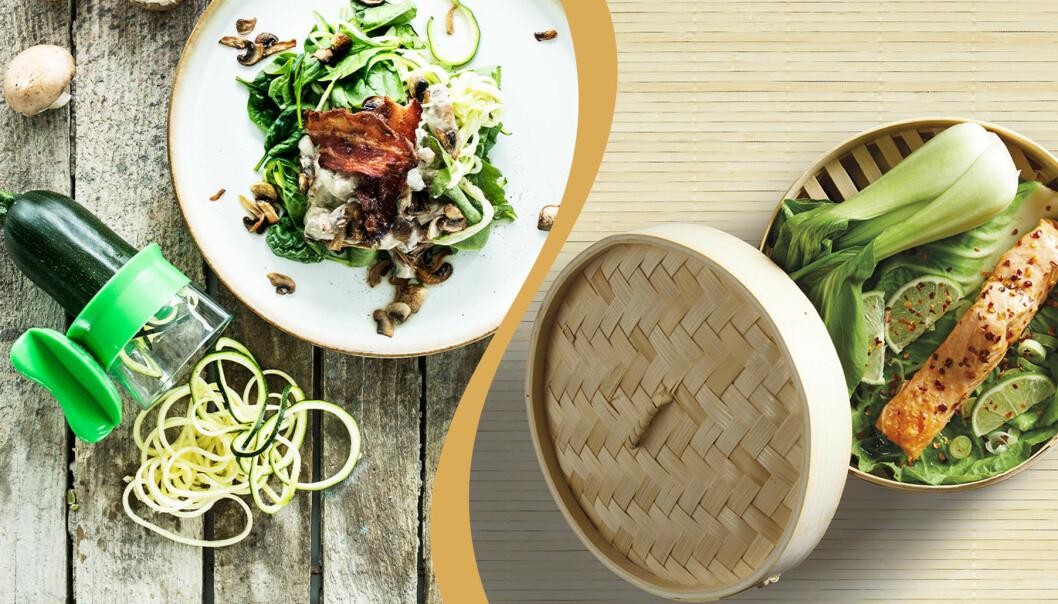 Prylar för nyttigare matlagning.