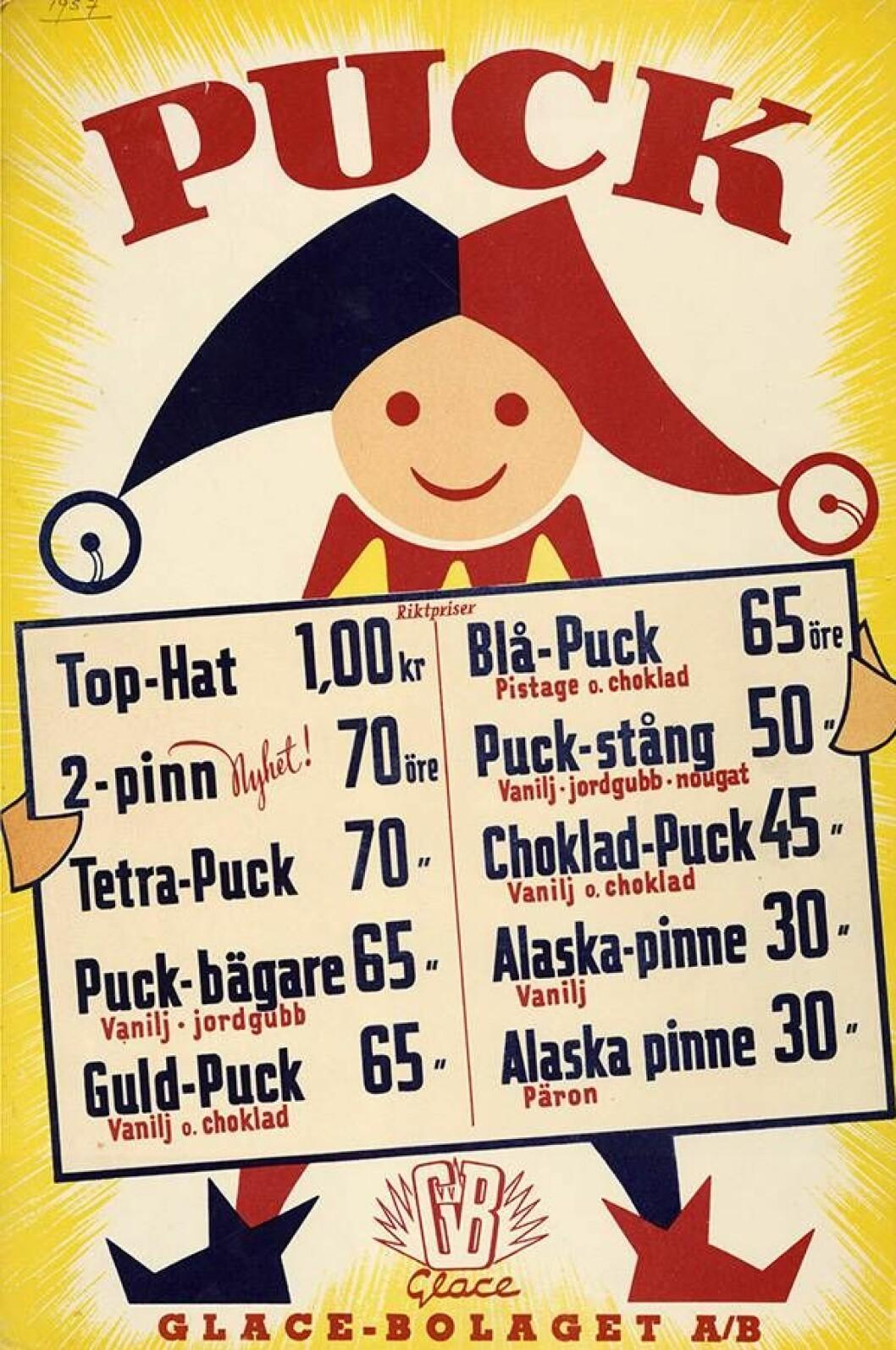 Nostalgisk glasskarta för GB